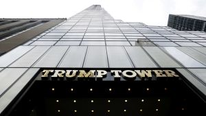 58-kerroksinen pilvenpiirtäjä Trump Tower Manhattanilla.