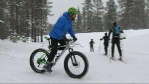 fat bike, talvipyöräily, maastopyöräily, Ylläs, läskipyörä, talviurheilu
