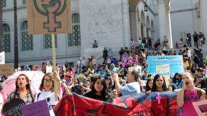 Kansainvälisen naistenpäivän marssi Los Angelesissa vuonna 2015.