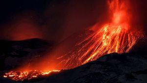 Etna-tulivuori purkautui 15.maaliskuuta 2017.