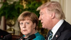 Angela Merkel ja Donald Trump.