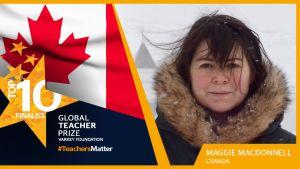 Maggie McDonnell on valittu maailman parhaaksi opettajaksi vuonna 2017. Kuva: Varkey Foundation