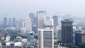 Jakartan kaupungin siluettia vuonna 2010.