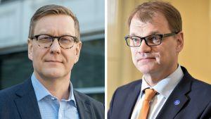 Atte Jääskeläinen ja Juha Sipilä