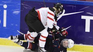 Yhdysvallat ja Kanada taistelivat MM-finaalissa vuonna 2015.