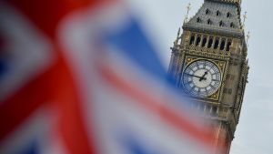 Britannian lippu Big Ben