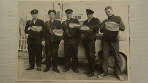 Syväkankaan postimiehiä vuonna 1962.