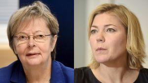 Liisa Jaakonsaari ja Henna Virkkunen.