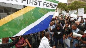Mielenosoitus Etelä-Afrikassa