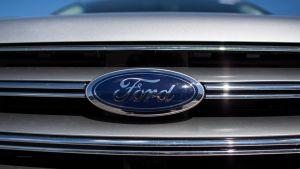 Kuvassa autovalmistaja Fordin logo.