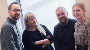 Juho Salminen, Marika Ahonen, Jarkko Ryynänen ja Paula Pokkinen.