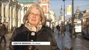 Ylen Venäjä-kirjeenvaihtaja Kerstin Kronvall.