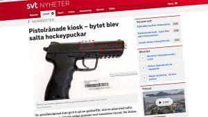 Kuvankaappaus SVT:n uutisesta.