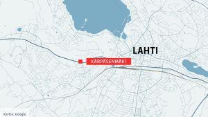 Kartta Lahti Kärpäsenmäk