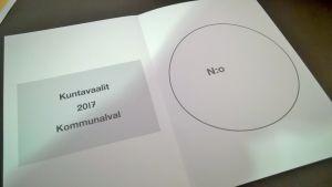 kuntavaalit 2017 äänestyslippu