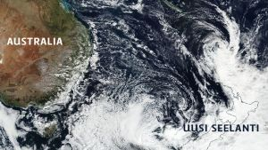 Uusi Seelanti myrsky.