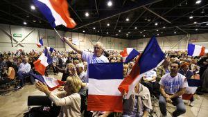 Francois Fillonin kannattajia vaalitilaisuudessa Marseillessa 11. huhtikuuta.