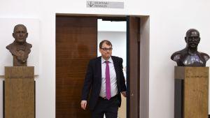 Pääministeri Juha Sipilä eduskunnan täysistunnossa tiistaina 18. huhtikuuta.