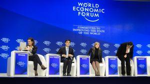 Maailman talousfoorumin kokous 17 tammikuuta Davosissa.