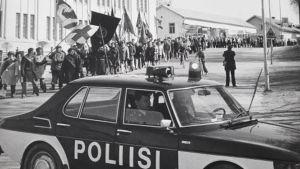 Vappumarssi Pietarsaaressa vuonna 1980.