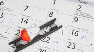 kalenterissa lomapäivät