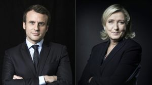 Emmanuel Macron ja Marine Le Pen.