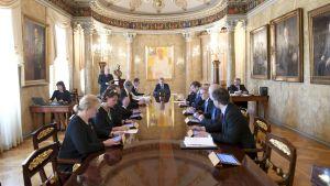 Presidentti Sauli Niinistö  presidentin esittelyssä perjantaina  5. toukokuuta.