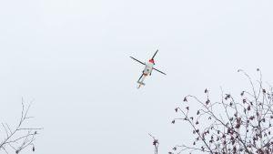 Rajavartiolaitoksen helikopteri.