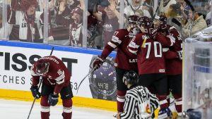 Latvia on juhlinut toistaiseksi MM-turnauksessa