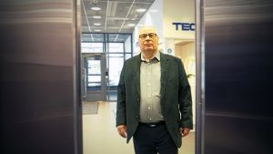 Risto Kallio Technopoliksen aulassa Oulussa 9.5.2017.