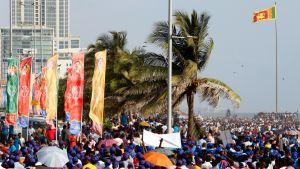 Vapunpäivän juhlintaa 1.5. 2017 Sri Lankan pääkaupungissa Colombossa.