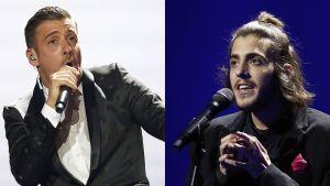 Italian Francesco Gabbani ja Portugalin Salvador Sobral.