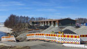 Ruutinpuiston rivitatalot rakennusvaiheessa.