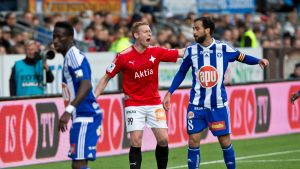 HIFK:n Mikael Forssell ja HJK:n Rafael Scapini De Almeida.