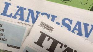Länsi-Savon ja Itä-Savon kannet. Lehtien nimet näkyvät kuvassa.