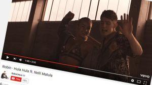 Robinin Hulahula-musiikkivideo.