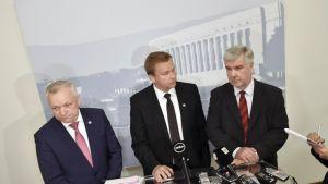 Kalle Jokinen, Antti Kaikkonen ja Toimi Kankaanniemi