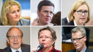Miapetra Kumpula-Natri, Maarit Feldt-Ranta, Tuula Haatainen, Erkki Liikanen, Liisa Jaakonsaari ja Ilkka Kantola.