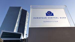 Euroopan keskuspankki Frankfurtissa.
