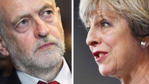 Jeremy Corbyn ja Theresa May