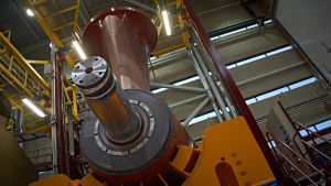 Azipod-potkurien valmistusta ABB:n tehtaalla.