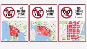 dronejen kieltoaluekartat