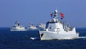 Kiinan ja Venäjän laivasto harjoittelivat yhdessä Etelä-Kiinan merellä 19. syyskuuta 2016.