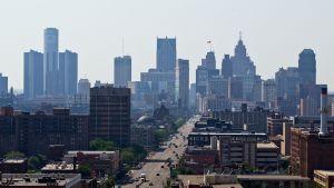Detroitin kaupunkikuvaa.