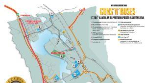 kantolan tapahtumapuisto saapumiskartta