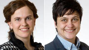 Mari-Leena Talvitie ja Silvia Modig.