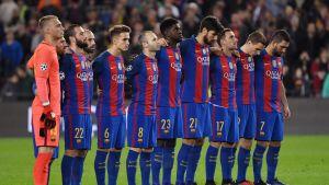 Barcelona kunnioitti lentoturmassa kuolleiden muistoa joulukuussa 2016.