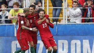 Portugali juhlii maalia.