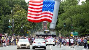 Itsenäisyyspäivän paraati Washingtonissa.