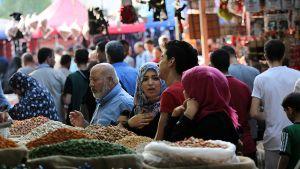 Katunäkymää Gazasta.